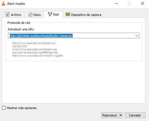Abrir medio VLC